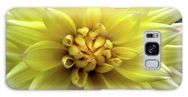 Yellow Dahlia Galaxy Case