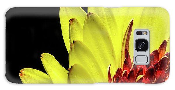 Yellow Daisy Peeking Galaxy Case