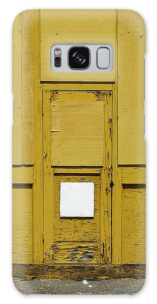 Yellow Door With Accent Galaxy Case