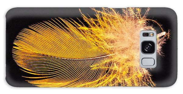 Yellow Feather Macro Galaxy Case