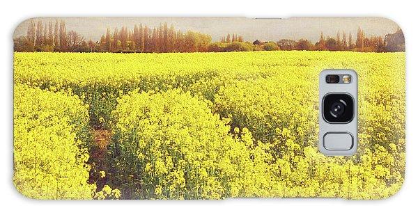 Yellow Field Galaxy Case