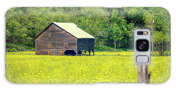 Yellow Field Rustic Shed Galaxy Case