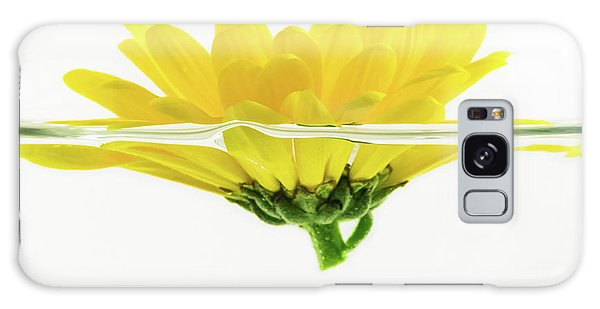 Yellow Flower Floating In Water Galaxy Case