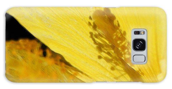 Hibiscus Galaxy Case - Yellow Flower - Hibiscus Shadow - Sharon Cummings by Sharon Cummings