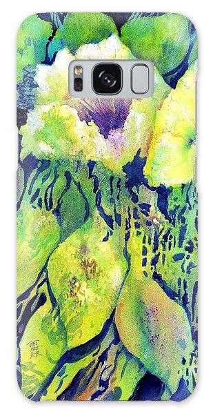 Yellow Flower Potpourri Galaxy Case