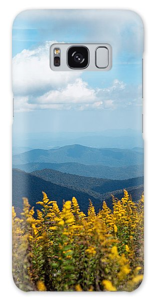 Yellow Flowers Along The Blue Ridge Mountains Galaxy Case by Kim Fearheiley
