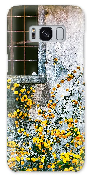 Yellow Flowers And Window Galaxy Case