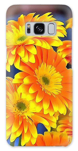 Yellow Flowers In Thick Paint Galaxy Case