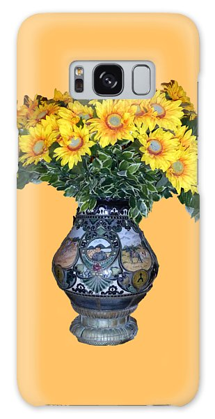 Galaxy Case featuring the photograph Yellow Flowers In Vase by Francesca Mackenney