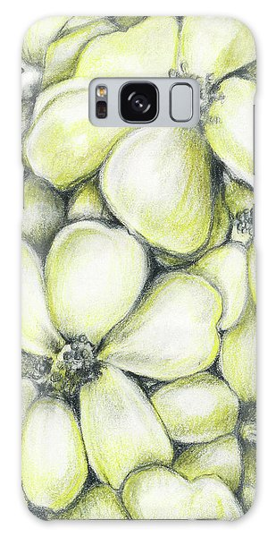 Yellow Flowers Pencil Galaxy Case