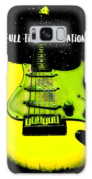 Galaxy Case featuring the digital art Yellow Guitar Full Time Occupation by Guitar Wacky