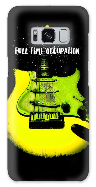 Yellow Guitar Full Time Occupation Galaxy Case