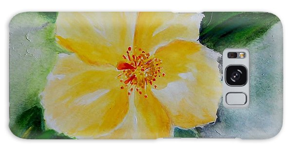 Yellow Hibiscus Galaxy Case by Jamie Frier
