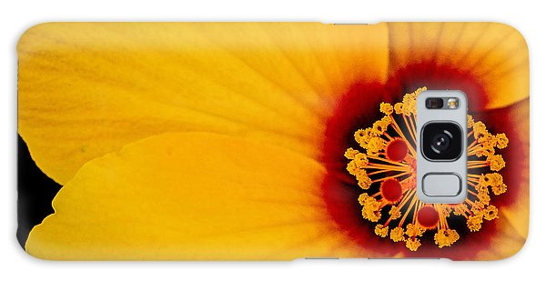 Yellow Hibiscus Squared Galaxy Case by TK Goforth