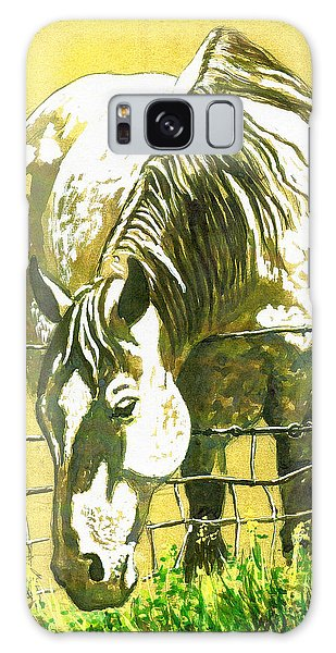 Yellow Horse Galaxy Case