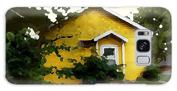 Galaxy Case featuring the digital art Yellow House In Shantytown  by Shelli Fitzpatrick
