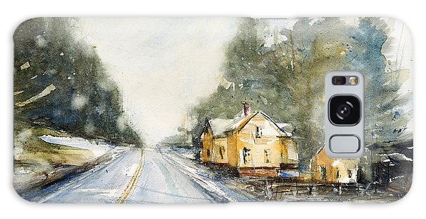 Yellow House On The Right Galaxy Case