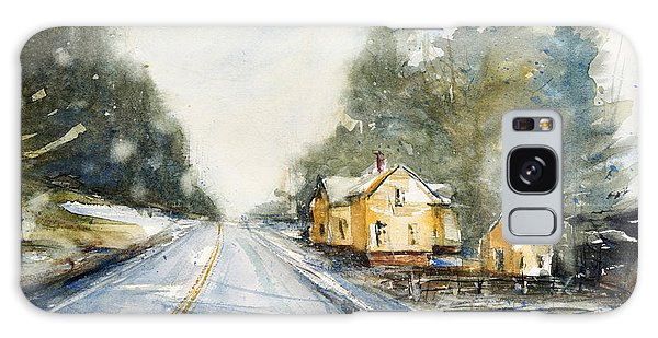 Yellow House On The Right Galaxy Case by Judith Levins