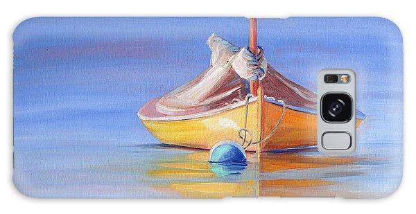 Yellow Hull Sailboat Iv Galaxy Case by Trina Teele