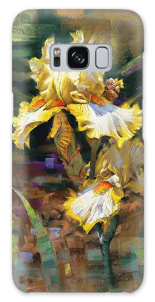 Yellow Iris II Galaxy Case