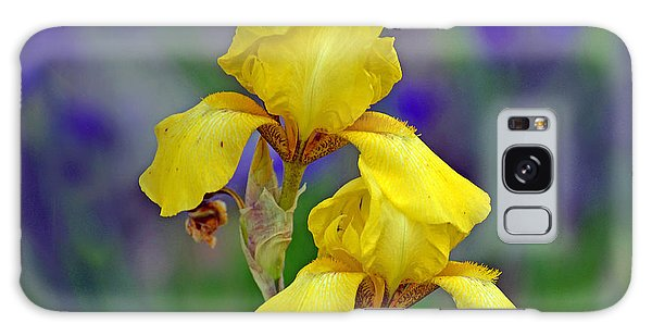 Yellow Iris Galaxy Case by Rodney Campbell