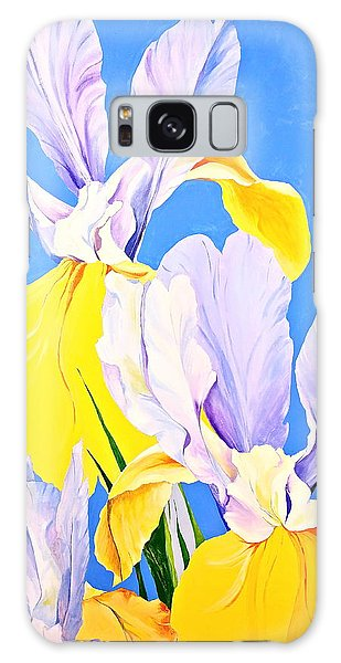Yellow Irises-posthumously Presented Paintings Of Sachi Spohn  Galaxy Case