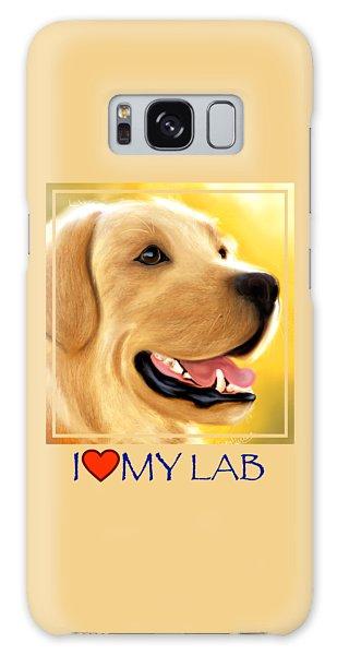Yellow Lab Portrait Galaxy Case