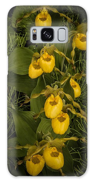 Yellow Lady Slippers Galaxy Case