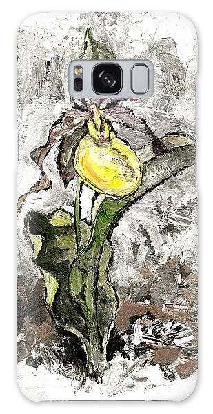 Yellow Lady's Slipper Galaxy Case