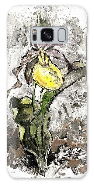 Yellow Lady's Slipper Galaxy Case
