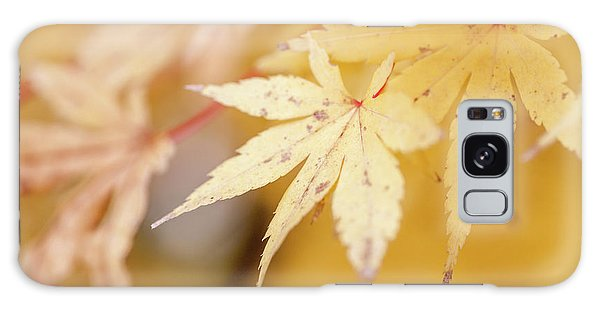 Yellow Leaf With Red Veins Galaxy Case