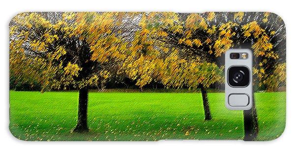 Yellow Leaves At Muckross Gardens Killarney Galaxy Case