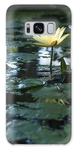 Yellow Lilly Tranquility Galaxy Case