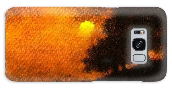 Galaxy Case - Yellow Moon by Jim Gola