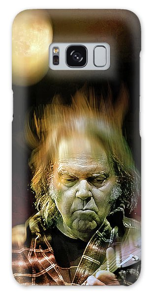 Yellow Moon On The Rise Galaxy Case by Mal Bray