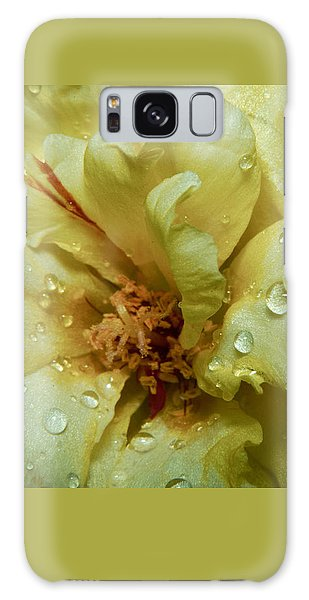 Yellow Moss Rose 1 Galaxy Case