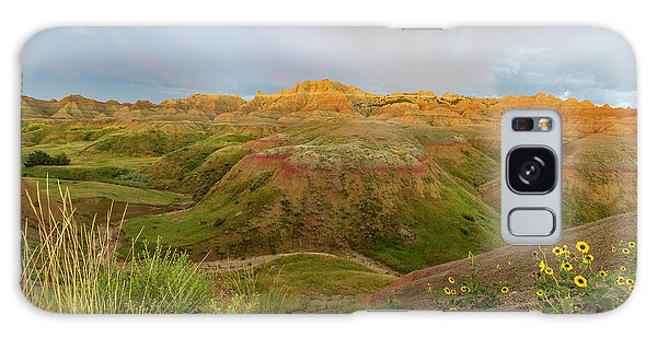 Yellow Mounds Morning Galaxy Case