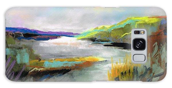 Yellow Mountain Galaxy Case by Frances Marino