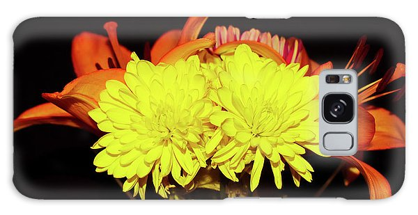 Yellow Mums And Orange Lilies  Galaxy Case