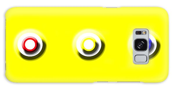 Yellow Nine Squared Galaxy Case