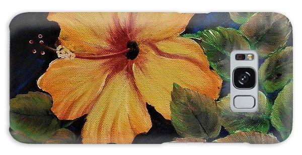 Yellow/orange Hibiscus Galaxy Case