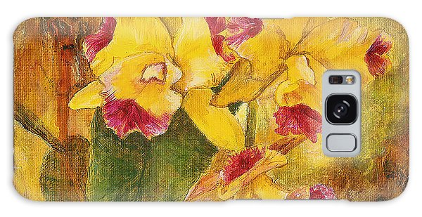 Yellow Orchids Acrylic Galaxy Case