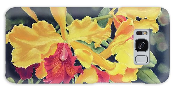 Yellow Orchids Galaxy Case
