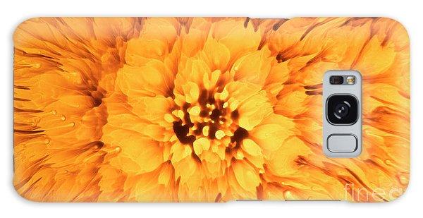Yellow Flower Under The Microscope Galaxy Case