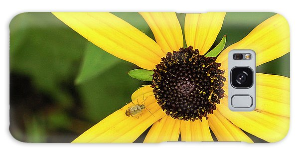 Yellow Petaled Flower With Bug Galaxy Case