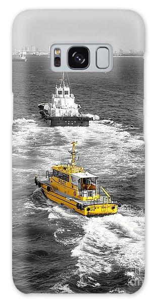 Yellow Pilot Yokohama Port Galaxy Case by Susan Lafleur