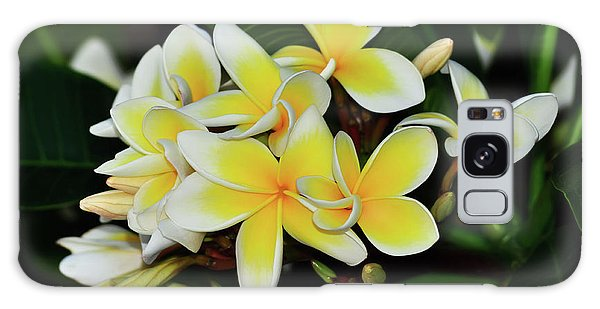 Galaxy Case featuring the photograph Yellow Plumeria By Kaye Menner by Kaye Menner