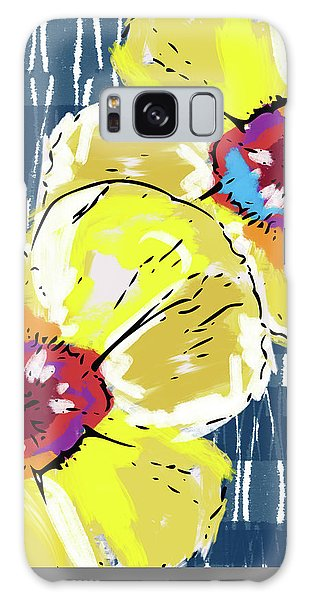 Yellow Poppies 2- Art By Linda Woods Galaxy Case by Linda Woods