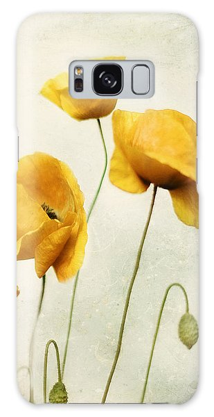 Yellow Poppies - Square Version Galaxy Case