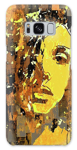 Galaxy Case featuring the photograph Yellow Portrait by Jeff Gettis